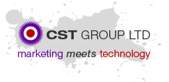 CST logo and strapline. CST: Marketing meets technology