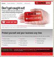 Licence999 website screenshot
